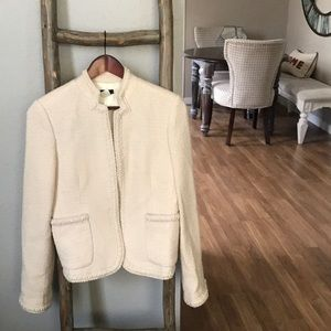 Reposh cream tweed j crew jacket